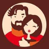 爱的男人和妇女 库存照片