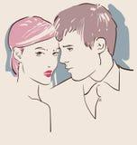 爱的男人和妇女 免版税图库摄影