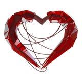爱的红色techno心脏 向量例证