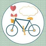 爱的自行车 免版税库存图片