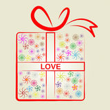 爱礼物意味被包裹的礼物和惊奇 免版税库存图片