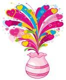 爱符号从花瓶发生 库存例证