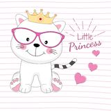 爱美好的小的公主猫梦想  免版税库存照片