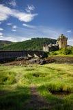 爱莲・朵娜城堡垂直的看法  免版税库存图片
