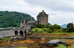 爱莲・朵娜城堡,海湾Duid -高地,苏格兰,英国 免版税库存照片