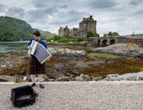 爱莲・朵娜城堡-苏格兰,英国 免版税库存图片