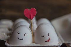 爱蛋加上在箱子的心脏 库存照片