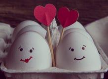 爱蛋加上在箱子的心脏 免版税图库摄影