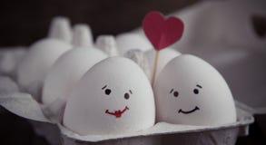 爱蛋加上在箱子的心脏 免版税库存图片
