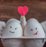 爱蛋加上在箱子的心脏 库存图片