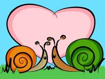 爱蜗牛 免版税库存图片