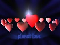 爱行星 免版税库存照片