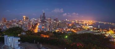 爱观察平台受难者`寺庙,其中一种著名吸引力在高雄市,台湾 免版税库存照片