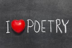 爱诗歌 库存图片