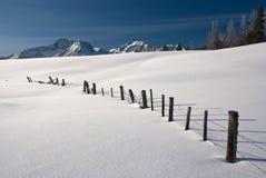 爱达荷山冬天 库存照片