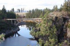 爱达荷桥梁 免版税库存图片