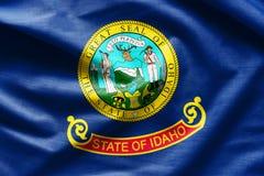 爱达荷的挥动的织品旗子 库存照片