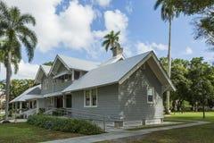 爱迪生和福特冬天庄园 主要福特庄园房子博物馆 佛罗里达 库存照片
