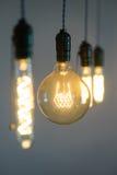 爱迪生电灯泡细节 免版税图库摄影
