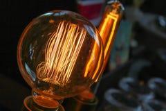 爱迪生电灯泡 免版税图库摄影