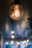 爱迪生电灯泡 库存图片