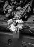 爱锁在巴黎,法国 免版税库存图片