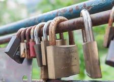 爱锁在意大利 免版税图库摄影