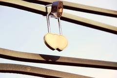 爱锁,爱 背景蓝色云彩调遣草绿色本质天空空白小束 被限制的日重点例证s二华伦泰向量 免版税图库摄影