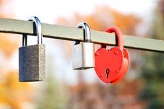 爱锁,爱 背景蓝色云彩调遣草绿色本质天空空白小束 被限制的日重点例证s二华伦泰向量 免版税库存照片