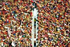 爱锁,详述(2) -科隆,德国 库存图片
