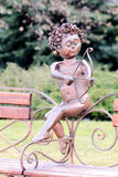 爱雕象丘比特的标志 图库摄影