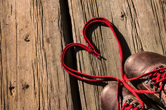 爱鞋带  库存图片