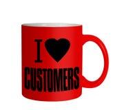爱顾客-企业销售抢劫,消息iolated在白色 免版税库存照片