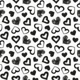 爱题材,心脏,华伦泰` s天无缝的样式背景 图库摄影