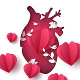 爱风景 医疗心脏例证 库存例证