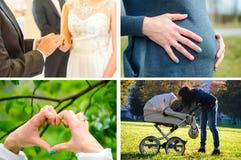 爱,婚礼,怀孕 免版税库存照片