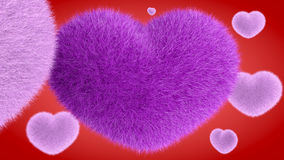 爱,软的桃红色心脏 向量例证