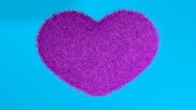 爱,软的桃红色心脏 皇族释放例证