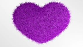 爱,软的桃红色心脏 库存例证
