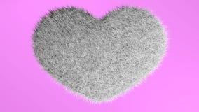 爱,软的白色心脏 免版税库存照片