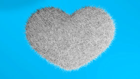 爱,软的白色心脏 免版税库存图片