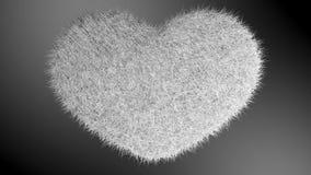 爱,软的白色心脏 库存图片