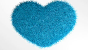 爱,软的蓝色心脏 免版税库存照片