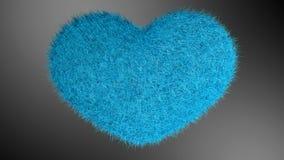 爱,软的蓝色心脏 免版税库存图片