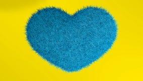 爱,软的蓝色心脏 皇族释放例证