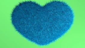 爱,软的蓝色心脏 库存照片