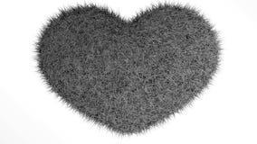 爱,软的黑心脏 库存例证