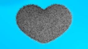 爱,软的黑心脏 库存图片