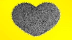 爱,软的黑心脏 免版税库存照片