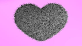 爱,软的黑心脏 库存照片